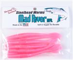 Steelhead Worms: Pink Haze